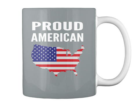 Proud  American Md Grey Mug Back