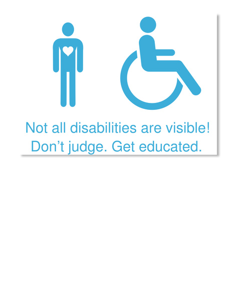 not all disabilities are visible - 471×560