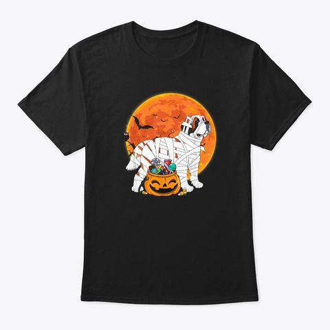 Funny Mummy Dog Lover Halloween Costume Black T-Shirt Front