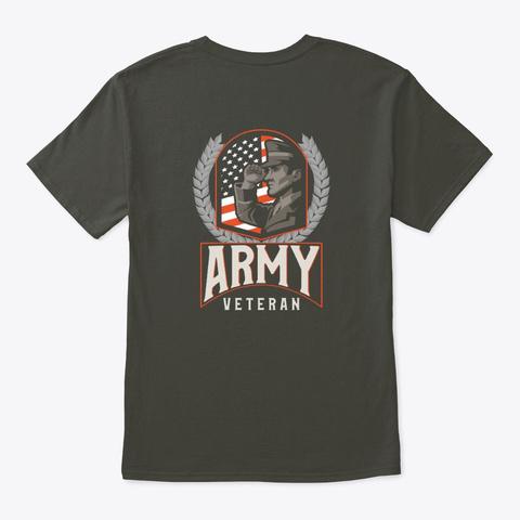 Army Veteran Smoke Gray T-Shirt Back