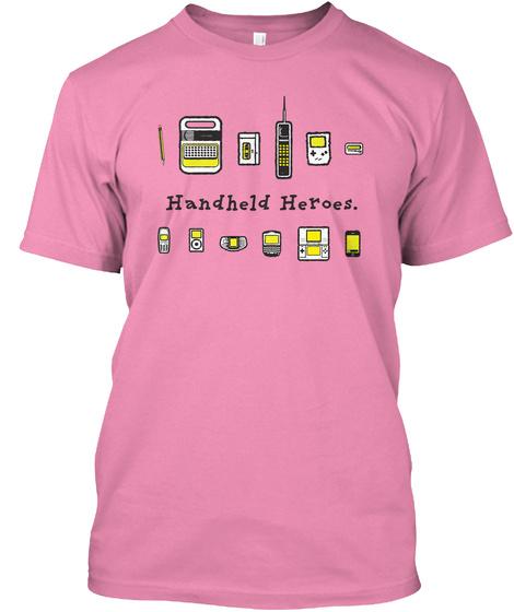 Handheld Heroes   Lineup (Us) Pink T-Shirt Front