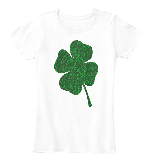 Shamrock Irish St Patricks Tshirt Arctic White T-Shirt Front