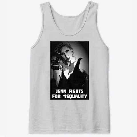 Limited Edition   I Fight For Jenn Sport Grey Kaos Front