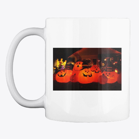 Halloween Mugs White T-Shirt Front