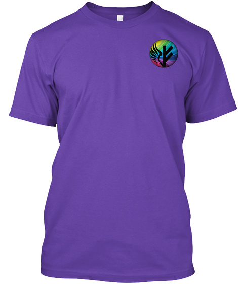 Freyja Project Black Rainbow Logo Purple Rush T-Shirt Front