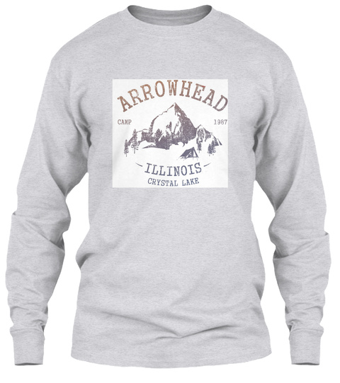 Arrowhead Camp 1987 Illinois Crystal Lake Ash Grey T-Shirt Front