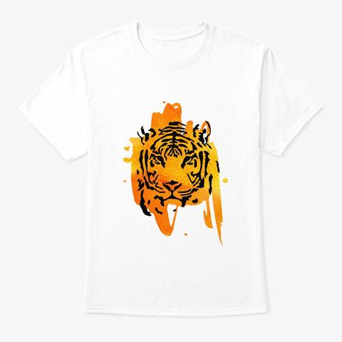 Tiger     Tiger, Animal, Wild Animal White T-Shirt Front