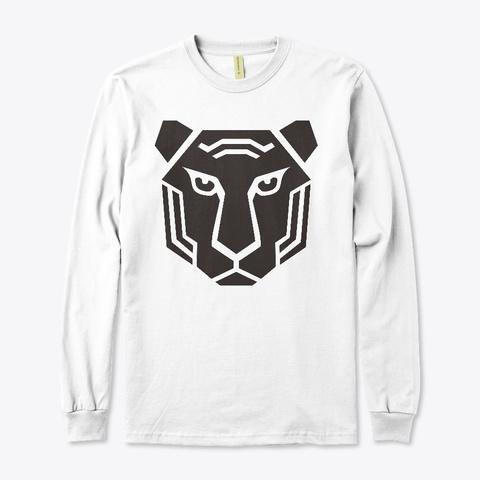 Tiger Shaped Shirt White T-Shirt Front