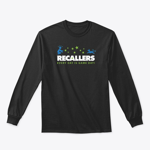 Recallers Hoodies, Tees And Mugs Black T-Shirt Front