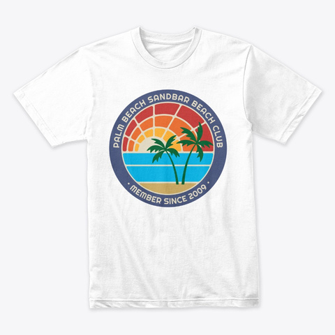Palm Beach Sandbar Beach Club White T-Shirt Front