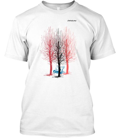 Orbital Lotus  White T-Shirt Front
