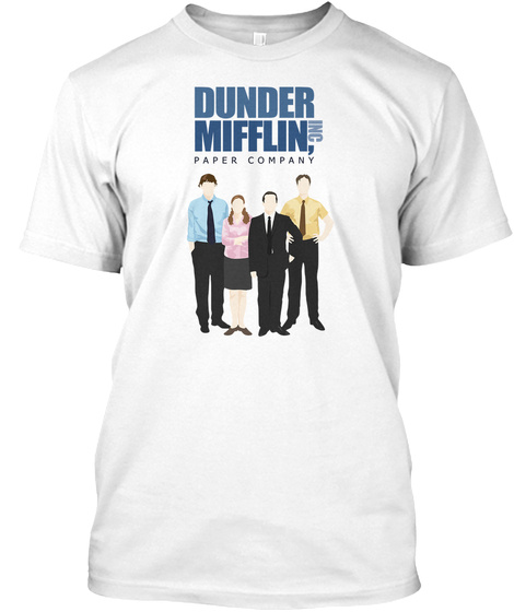 Dunder Mifflin Inc, Paper Company White T-Shirt Front