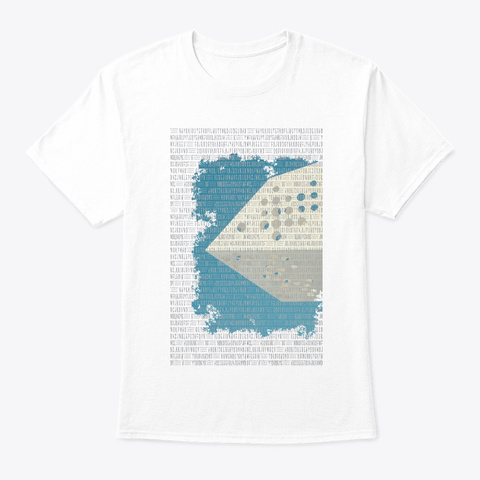 Abstract Art White T-Shirt Front