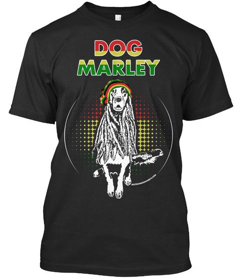 Dog Marley Black T-Shirt Front