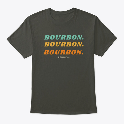 Coffee Varietals: Bourbon Retro Smoke Gray T-Shirt Front