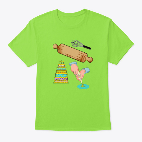 Baking Art Kitchen Cake Muffin Biscuit  Lime T-Shirt Front