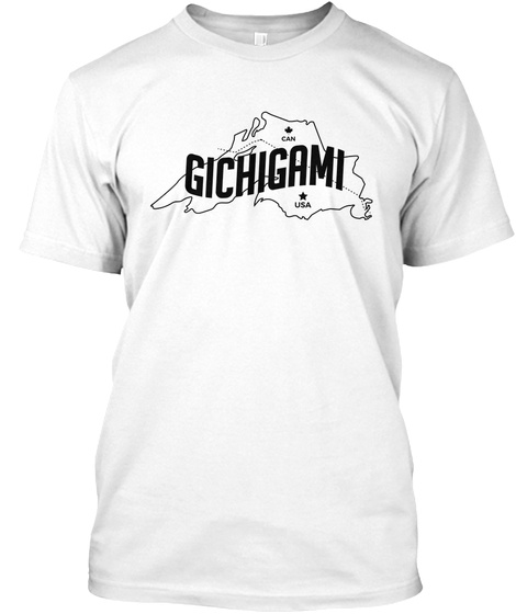 Gichigami Map Tee White T-Shirt Front