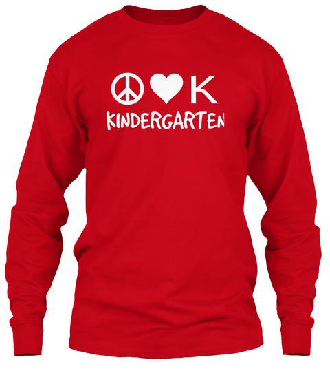 K Kindergarten  Red T-Shirt Front