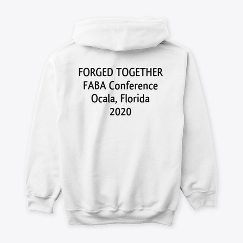 Faba Conference 2020 Hoodie White T-Shirt Back