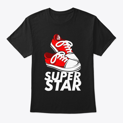 Super Star (Classic Tee) Black T-Shirt Front
