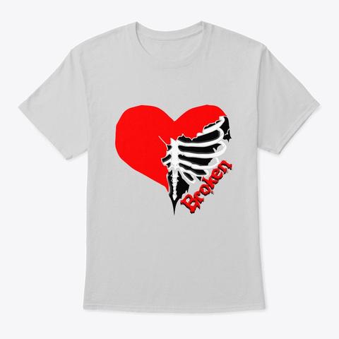 Heart Broken Light Steel T-Shirt Front