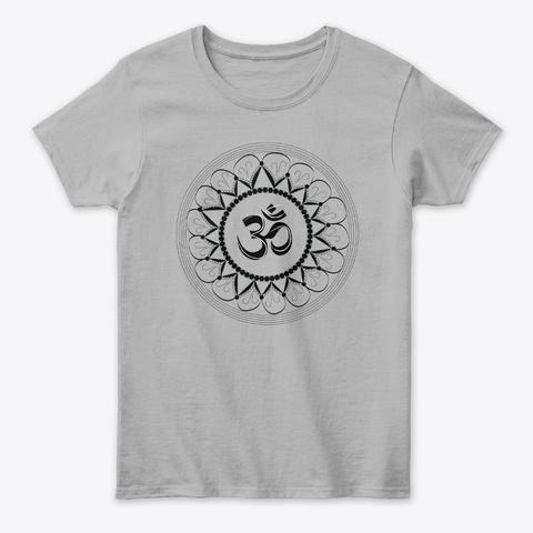 Om Zen Yoga Tshirt Spiritual Symbol Sport Grey T-Shirt Front
