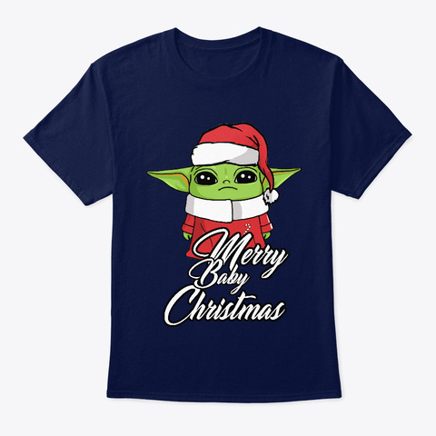 Merry Baby Xmas Navy T-Shirt Front