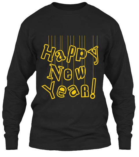 New Year's Day  Black Long Sleeve T-Shirt Front