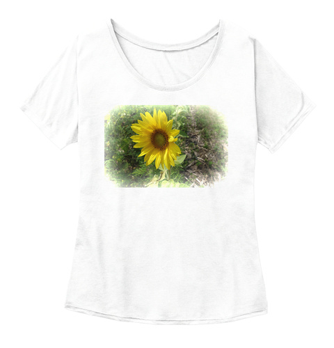 Sunflowerinbloom White  Women's T-Shirt Front