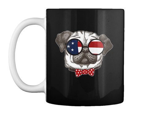 Pug Dog Mugs And Gifts For Dog Lover Black T-Shirt Front