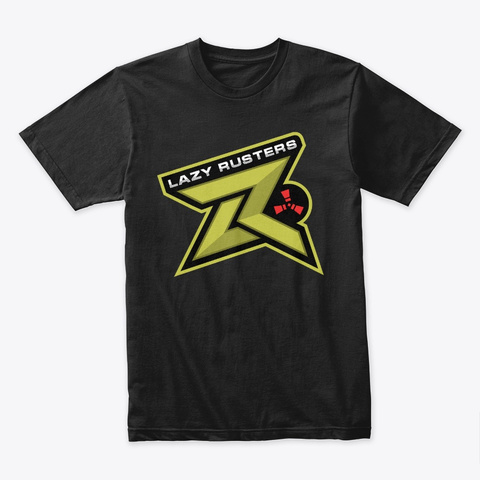 Lazy Rusters T Shirt Black T-Shirt Front
