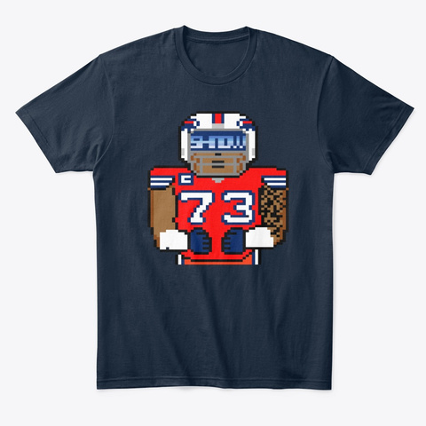 2 Receptions 2 Td's New Navy T-Shirt Front