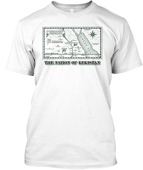 Green Sea The Nation Of Kekistan White T-Shirt Front