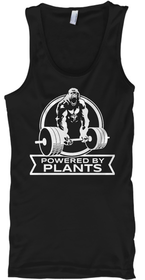 Powered By Plants Black T-Shirt Front