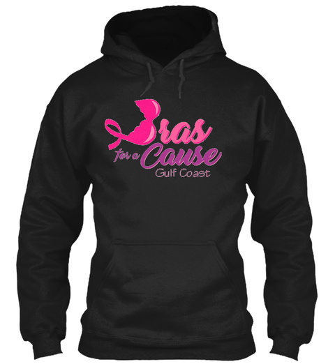 Bras For A Cause Gulf Coast Black T-Shirt Front