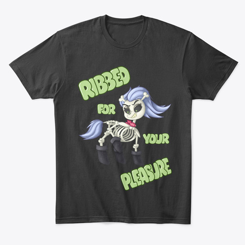 Spooky Lewd Skellinore Black T-Shirt Front