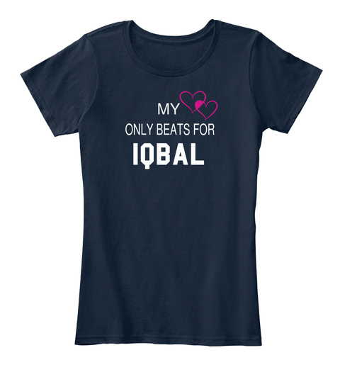 My Only Beats For Iqbal New Navy T-Shirt Front