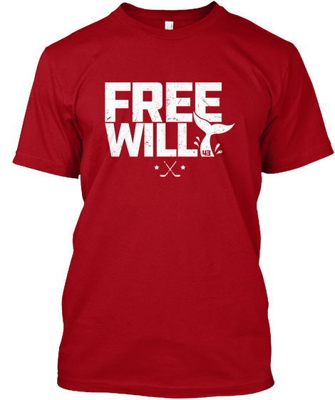 Free Will 43 Deep Red T-Shirt Front