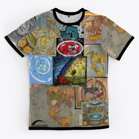 Many Many Maps Black T-Shirt Front