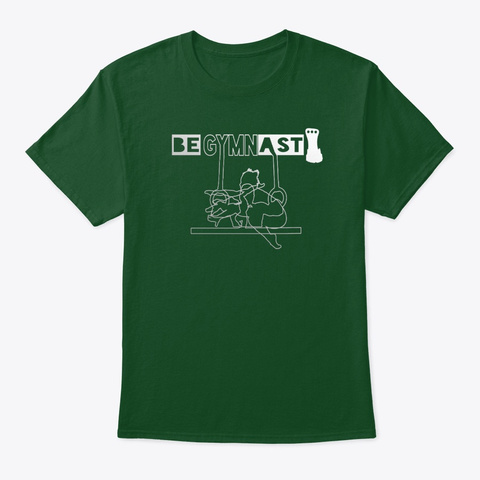 3 Gymnasts   Deep Forest T-Shirt Front
