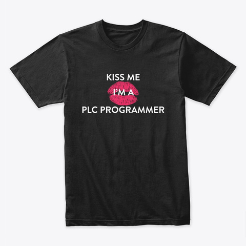 Kiss Me Premium Tee Black T-Shirt Front