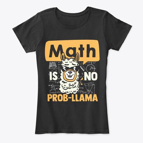 Funny Math Nerd Pun Gift For Teachers Black T-Shirt Front