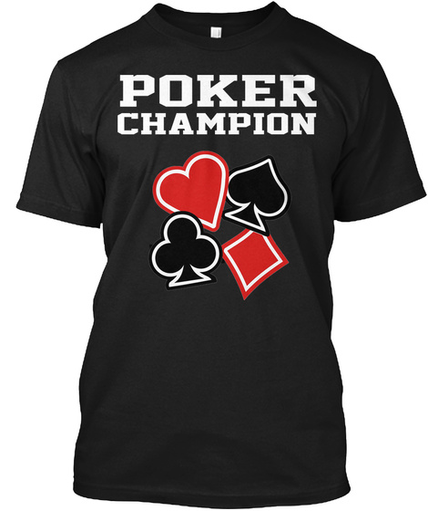 Poker T Shirt Poker Champion Black T-Shirt Front