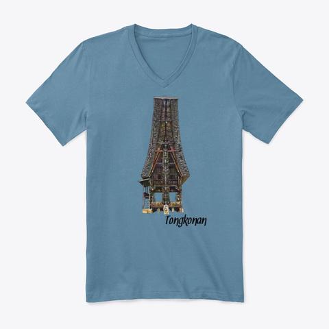Tongkonan Steel Blue T-Shirt Front