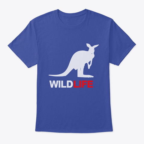 Wildlife Animal Tshirt For Nature Lovers Deep Royal T-Shirt Front