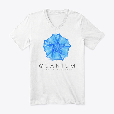 Quantum Gravity Research Gear  White T-Shirt Front