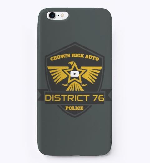 Crown Rick Auto Logo Iphone Case Dark Grey T-Shirt Front