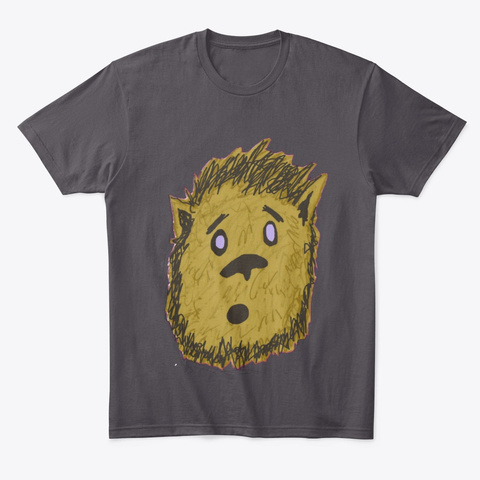 Where Wolf Heathered Charcoal  T-Shirt Front