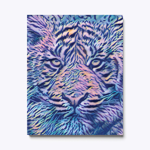 Colorful Tiger Canvas Print White T-Shirt Front