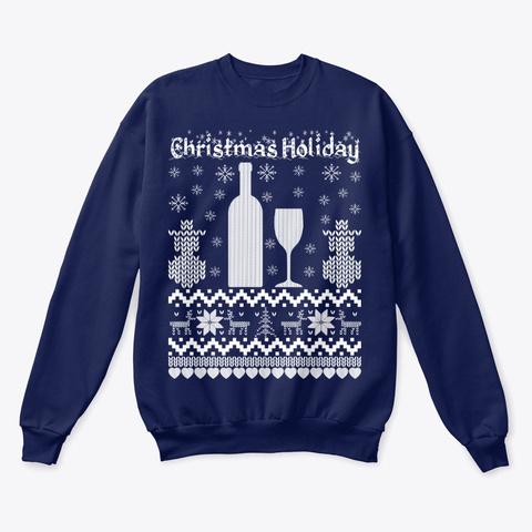 Christmas Holiday Navy  T-Shirt Front